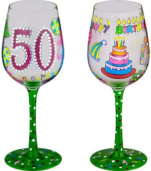 50 Better Then Ever-Bottom's Up Wine Glass -