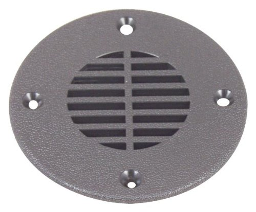 T. H. Marine FD-4-DP Floor Drain and Vent Cover - Black, 4''