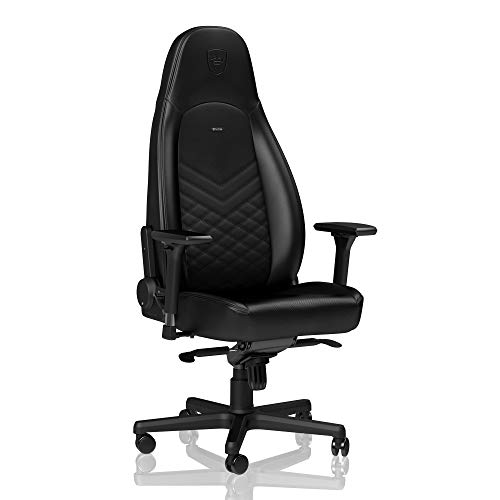 noblechairs ICON Gaming Chair - Office Chair - Desk Chair - PU Faux Leather - Ergonomic - Cold Foam Upholstery - 330 lbs - Racing Seat Design - Black