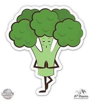 Amazon.com: GT Gráficos Brócoli Yoga estilo de vida ...
