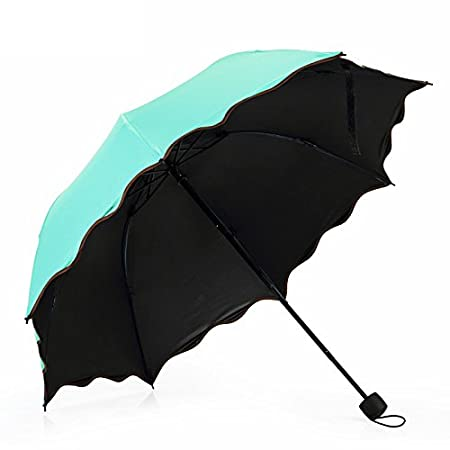 SUOWO Compact folding windproof travel umbrella bloom when wet rain parasol for kids women CSWORGANIZER