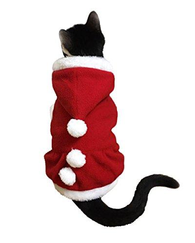 [Another Me Pet Christmas Costumes Suit with Cap Santa Claus Suit Dog Cat Xmas Hoodies Hat costumes] (Bat Costume For Cat)