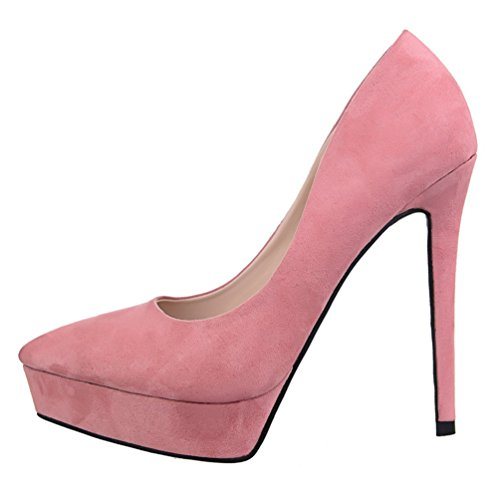Platform Rose De Femme Stiletto HooH Femmes Escarpins Bureau nI7HxRUq