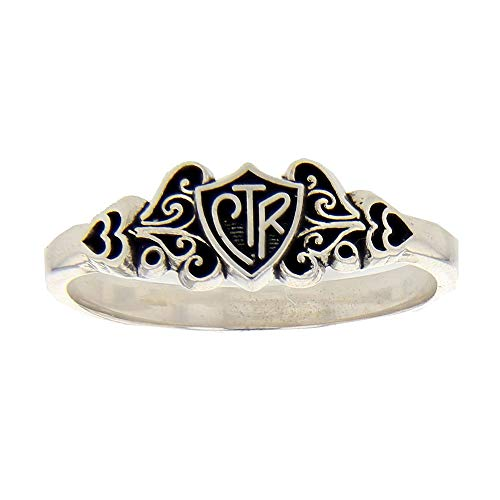 (LDS Womens 0.925 Sterling Silver Filigree CTR Choose the right Ring for Girls - LDS Rings, Womens CTR Rings, Girls CTR Rings)