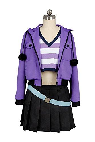 Indian School Uniform Costume (Girl's Purple Coat Shirt Dress Black Skirt Outfit Rider School Uniform Cosplay Costume Casual Suit (X-Large))