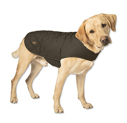 Orvis Quilted Waxed-cotton Dog Jacket / Small 17