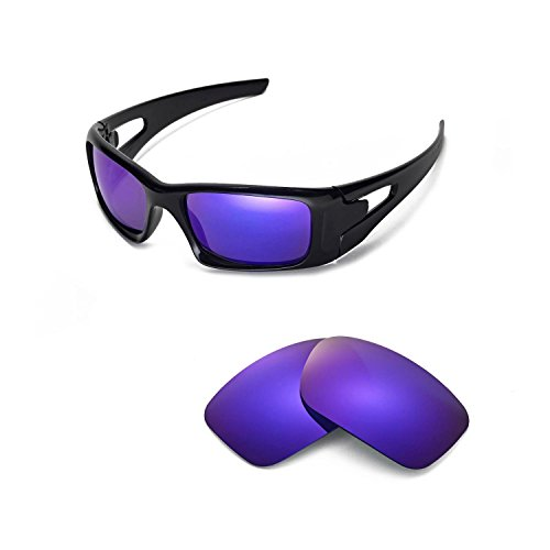 Walleva Replacement Lenses for Oakley Crankcase Sunglasses - Multiple Options Available (Purple Coated - - Crankcase Oakleys