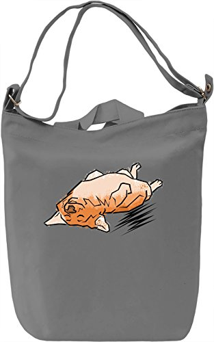 Tired Corgi Borsa Giornaliera Canvas Canvas Day Bag| 100% Premium Cotton Canvas| DTG Printing|