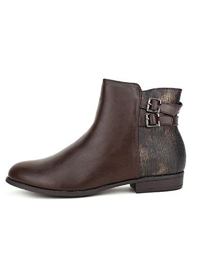 Cendriyon Marron Chaussures Femme Bi Bottine Matière Allios wZ04gq