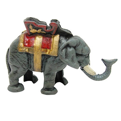 (Design Toscano Circus Elephant Collectors' Die Cast Iron Mechanical Coin Bank)