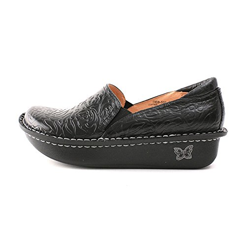 Alegria Para Mujer Debra Slip-on Negro En Relieve Rose