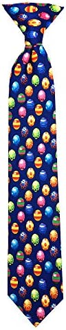 Jacob Alexander Boys' Colored Easter Eggs Blue 14 inch Clip-On Neck