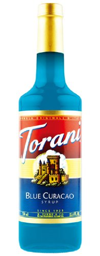 Torani Blue Curacao Syrup, 750 ml Bottle