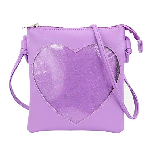 SteamedBun Ita Bag Heart Crossbody Bags Small Clear Phone Wallet Shoulder Purse with zipper
