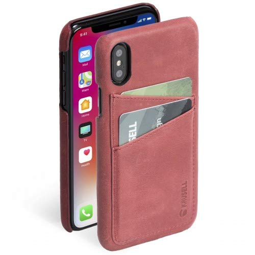 Krusell Wallet Case for Apple iPhone X - Vintage Red