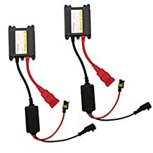 HID Ballast,CICMOD 55W HID Replacement Slim Ballast For H1 H3 H4 H7 H10 H11 9005 9006 All Sizes,(2 Ballasts)
