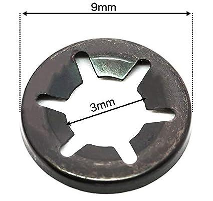 /25/mm Spring Steel Star Lock Starlock rondelle per gambo di fissaggio a clip 2/mm/