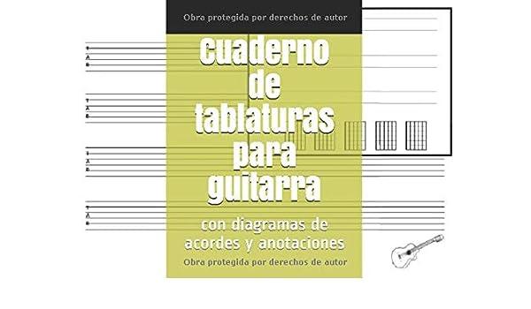 Cuaderno de tablaturas para guitarra: con diagramas de acordes y anotaciones: Amazon.es: García Vargas, Patricia: Libros