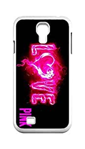 Cool Painting keep calm and love pink Snap-on Hard Back Case Cover Shell for Samsung GALAXY S4 I9500 I9502 I9508 I959 -845