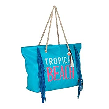 Aktive Bolsa Playa Tropical Beach con Flecos: Amazon.es ...