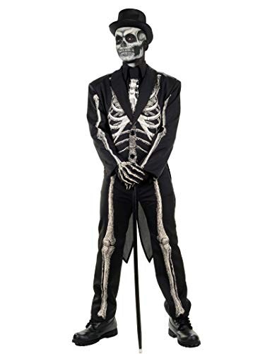 Pizazz! Men's Adult Dead Bones Costume, Black/White,