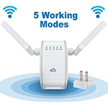 DHMXDC 300Mbps Multi-function Mini Wireless-N WiFi Range Extender Signal Booster 802.11n/b/g Network Repeater/Router/AP with WPS