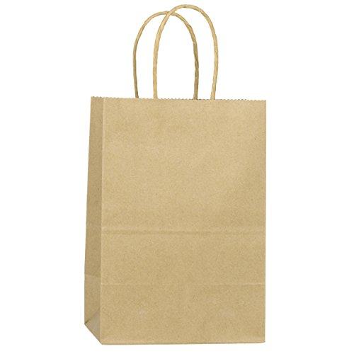 BagDream Kraft Paper Bags 25Pcs 5.25'x3.25'x8', Party Bags, Shopping Bag, Kraft Bags, Brown Bags with Handles