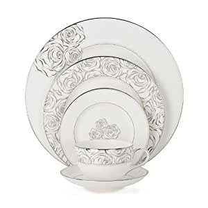 Monique Lhuillier Waterford China Sunday Rose Twelve 5 Pc Place Settings