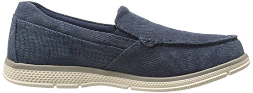 Mens Mocassino Zane Twin Gore Moc Ciabatta Slip-on Mocassino In Tela Indaco