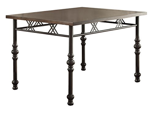 Homelegance 5149-48 Rectangular Wood and Metal Dining Table, Brown/Black - Brown Rectangular Dining Table