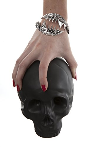 Kasun London Bracelet jonc plaqué argent/croco