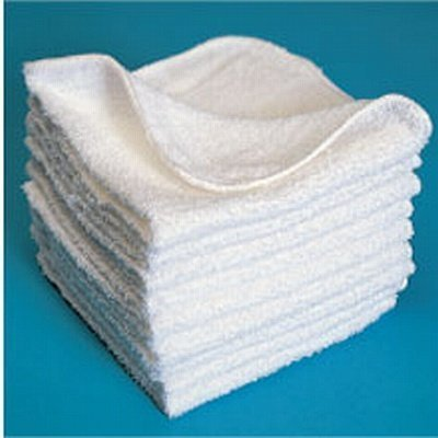 Scalpmaster Wash Cloth 1 lb White (Pack of 12)