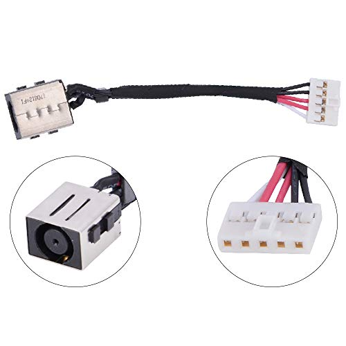 Eathtek Replacement DC Power Jack Cable Harness for Dell Latitude E7270 E7470 DC30100VI00 VCYYW Series