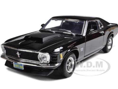 1970 MUSTANG BOSS 429 BLACK 1:18 DIECAST MODEL CAR BY MOTORMAX 73154 by Motormax