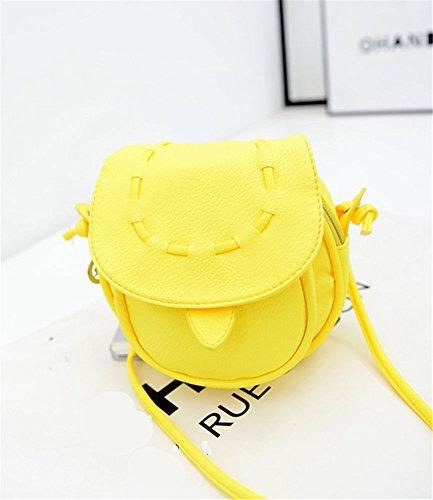 STINNA - Bolso mochila de Piel para mujer amarillo