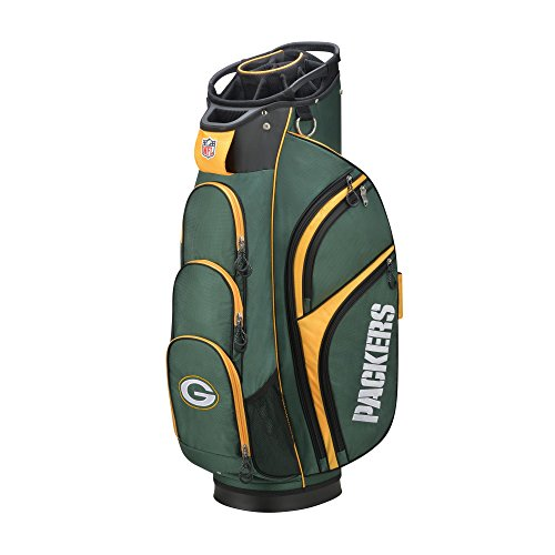 Wilson 2018 NFL Golf Cart Bag, Green Bay (Wilson Green Bay Packers Official Football)
