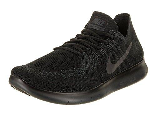Nike Mens Free RN Flyknit 2017 Running Shoe, Negro/Antracita, 44 D(M) EU/9 D(M) UK