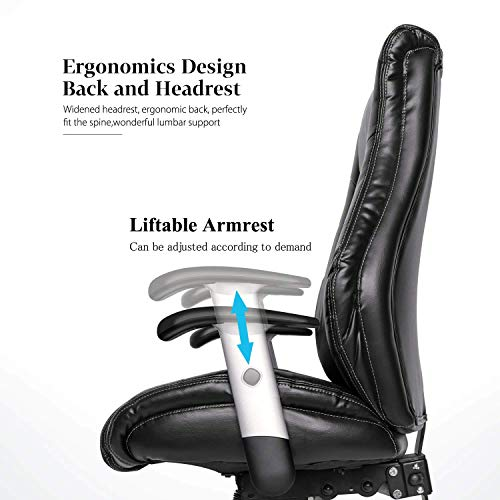 Smugdesk Executive Office Chair Ergonomic Heavy Duty Chair Leather Adjustable Swivel Comfortable Rolling Chair Photo #4
