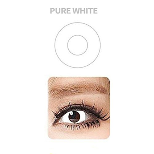 Women Blends Cosplay Eyes Materials Multicolor Cute Charm and Attractive Fashion Contact Lenses Cosmetic Makeup Eye Shadow (White) for $<!--$5.96-->