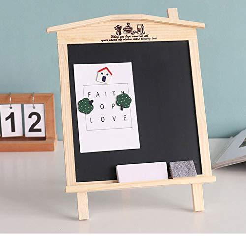 (KCPer Rustic Magnetic A-Frame Chalkboard Sign/Free Standing Chalkboard Easel/Sturdy Sidewalk Sign Sandwich Board/Outdoor A Frame Chalk Board for Weddings & More)