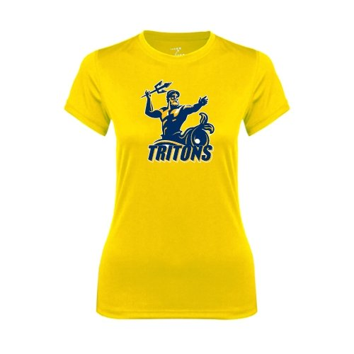 UC San Diego Ladies Syntrel Performance Gold Tee 'Official Logo'