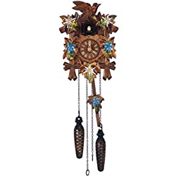 Quartz Cuckoo Clock 5 leaves, bird, with music