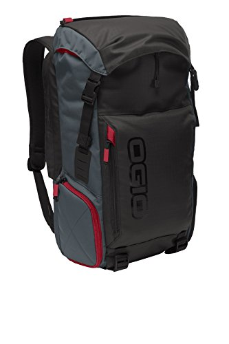 Black Red Gray Notebook Case - OGIO 423010 Torque 15
