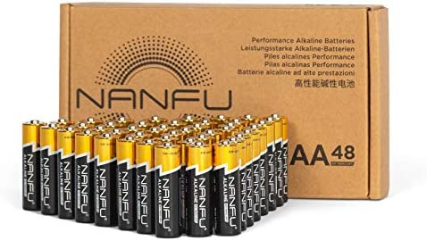 NANFU No Leakage Long Lasting AA 48 Batteries [Ultra Power] Premium LR6 Alkaline Battery 1.5v Non Rechargeable Batteries for Clocks Remotes Games Controllers Toys & Electronic Device