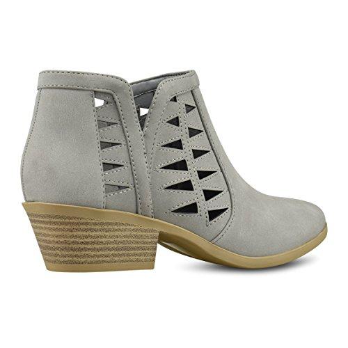 Multi Standard Strap Women's Toe Grey Premier Ankle Bootie Nbpu Lt Closed Iw4axxq16
