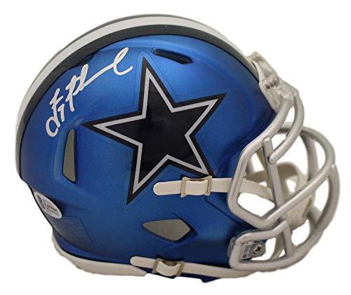 Troy Aikman Autographed/Signed Dallas Cowboys Blaze Mini Helmet BAS