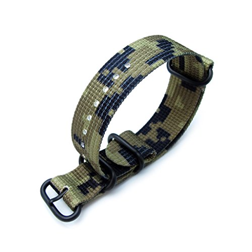 MiLTAT-21mm-3-Rings-Zulu-Watch-Strap-3D-Woven-Nylon-Green-Camouflage-PVD