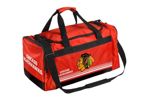 Chicago Bag Blackhawks - Chicago Blackhawks Medium Striped Core Duffle Bag