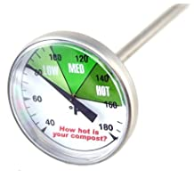 """Premium Compost or Soil Thermometer with 20"""" Stainless Steel Stem"""