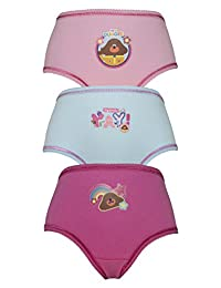 Cartoon Character Products CBeebies Hey Duggee Girls Pants/Knickers Various - Yay 3-4 Years (98-104 cms)